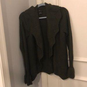 BCBG Army Green Knit Cardigan Size XL